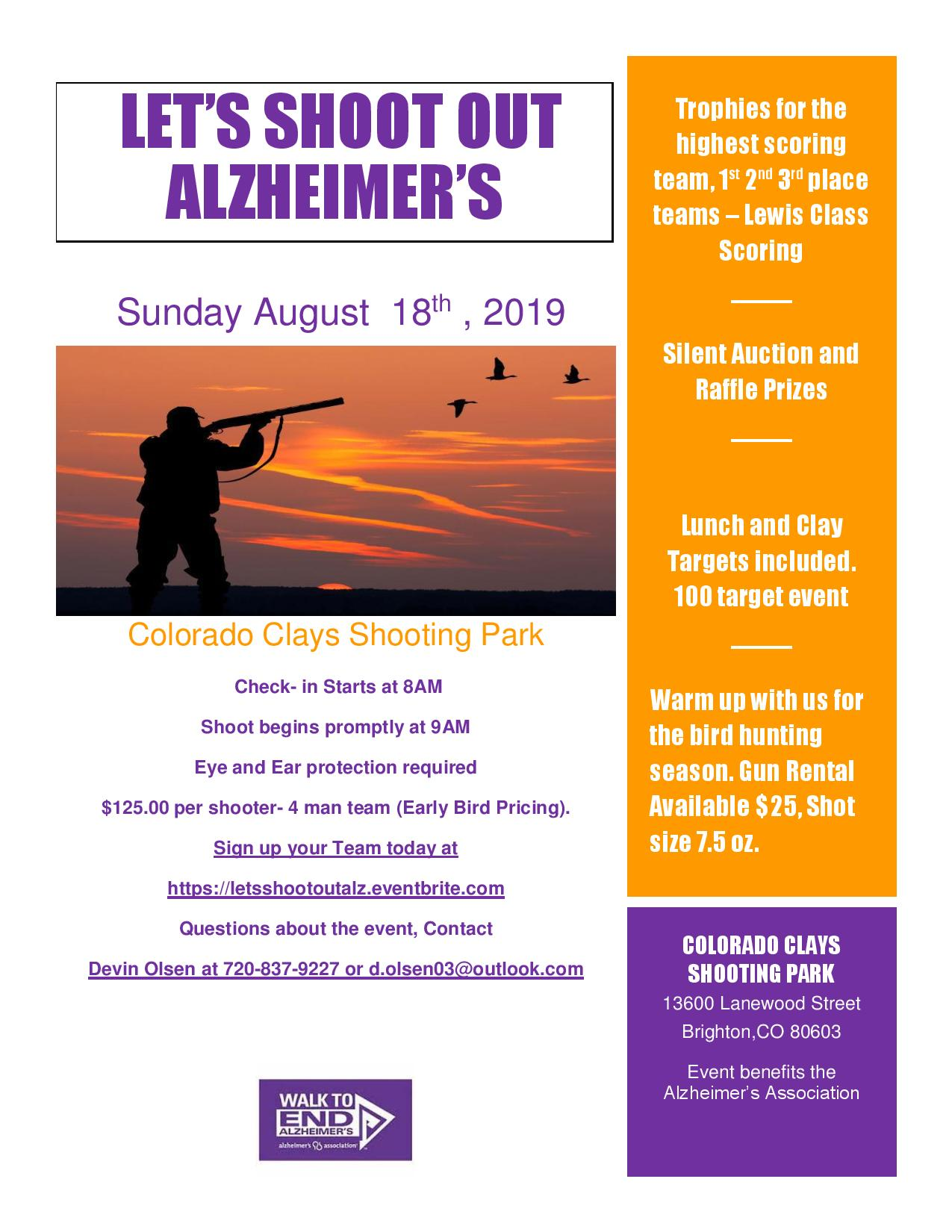 Let's Shoot Out Alzheimer's
