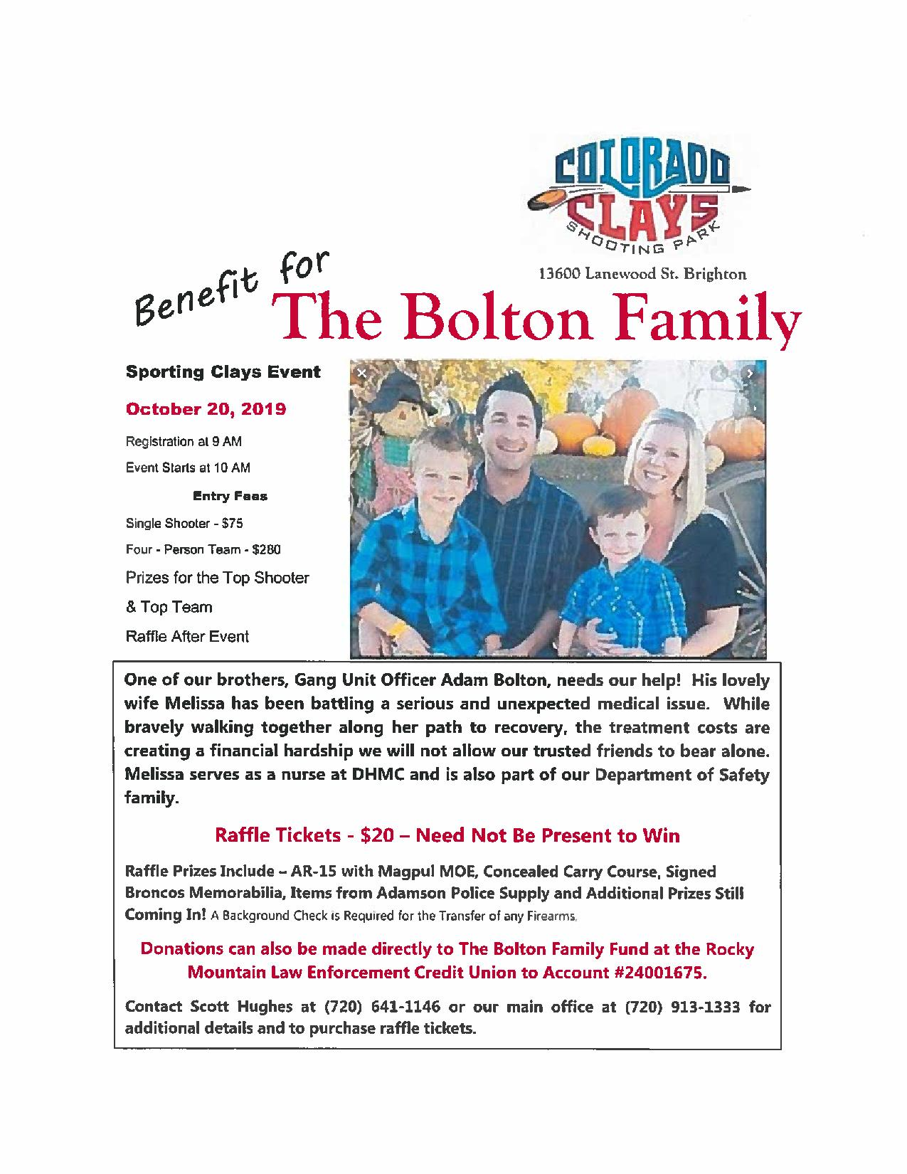 Bolton Family Sporting Clays Fundraiser