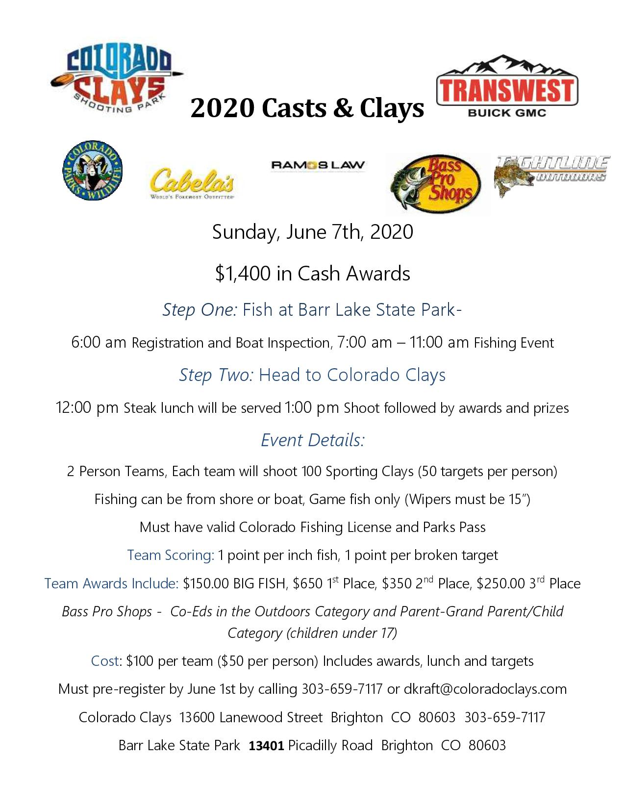 2020 Casts & Clays Sponsored by Transwest Buick GMC