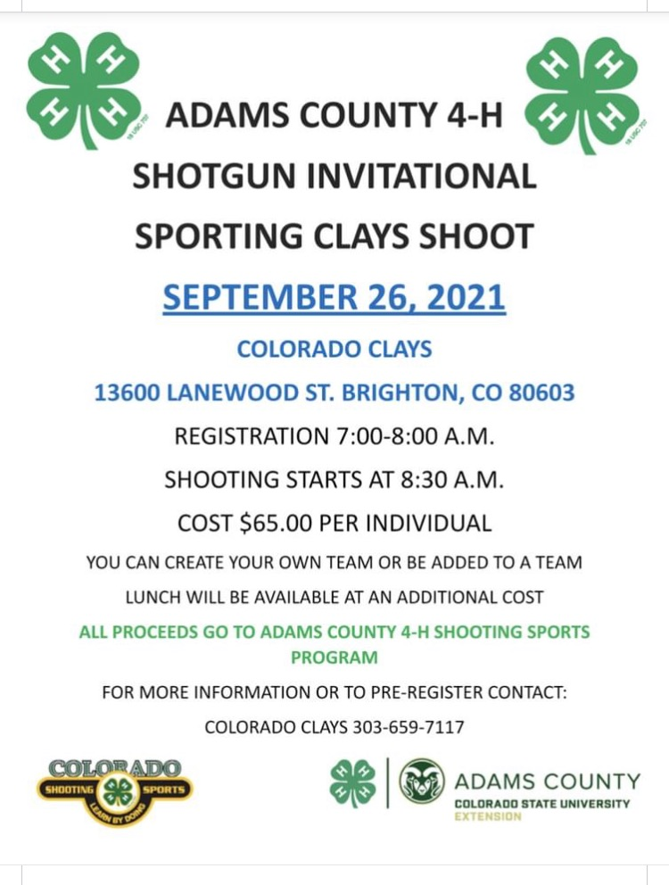 Adams County 4-H Invitational Sporting Clays Shoot